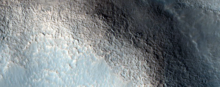 Chaos Terrain in Crater