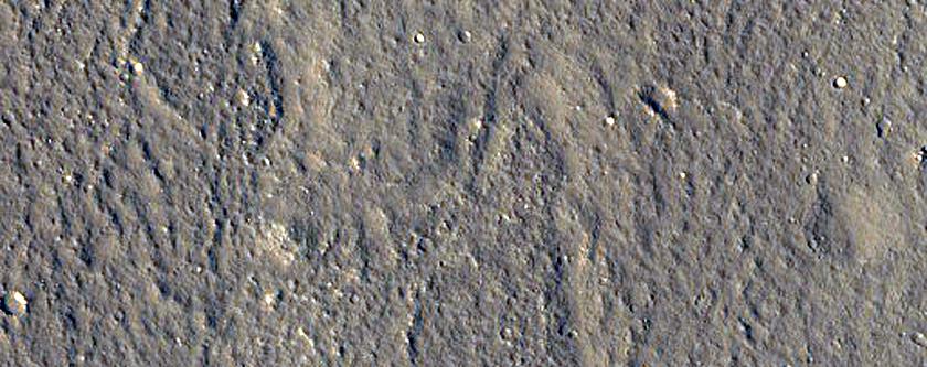 Ridge in Utopia Planitia