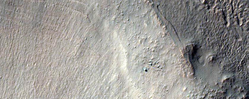 Glacial Deposits in Nereidum Montes