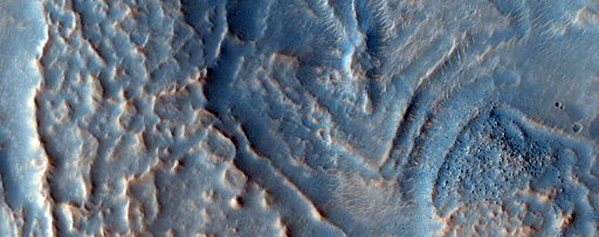 Broad Sinuous Ridge in Fretted Terrain