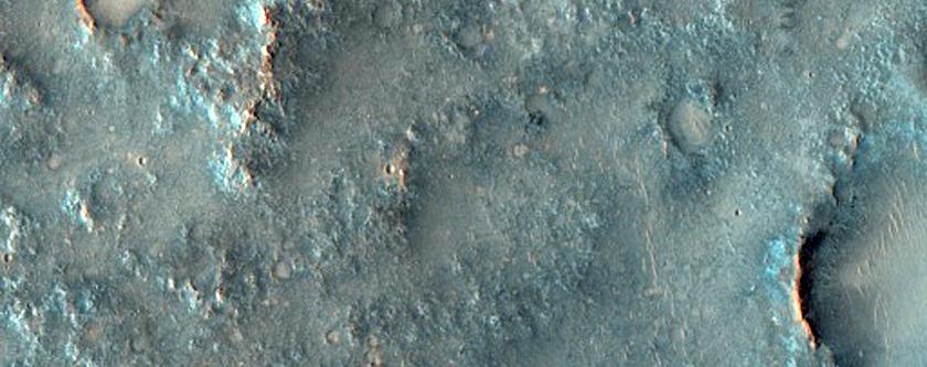 Ejecta on Isidis Planitia