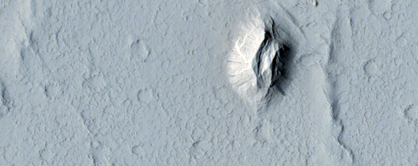 Depression with Terraced Margins Northwest of Nicholson Crater