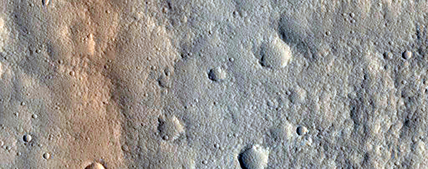 Trough in Kasei Valles