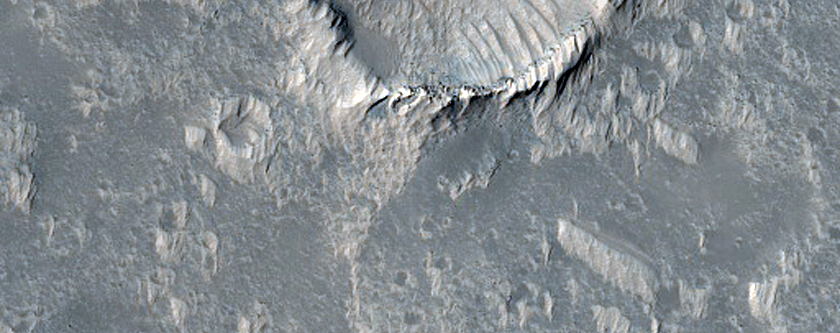 Lava Flows and Pit in Daedalia Planum