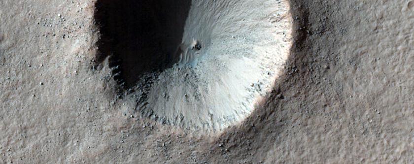 Crater Near Aonia Terra