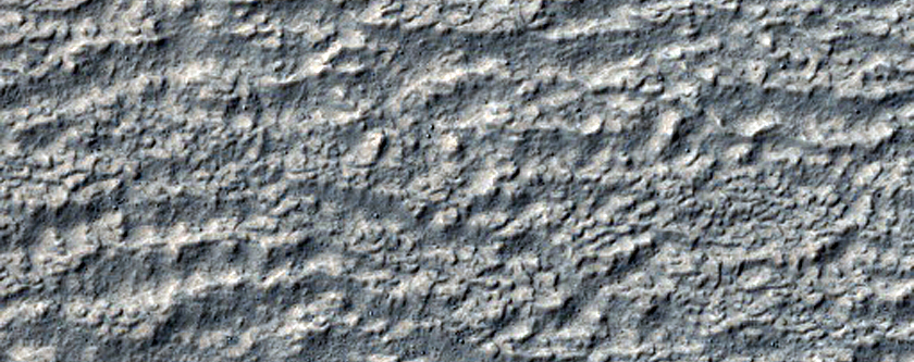 Lobate Deposit and Mesa Near Reull Vallis