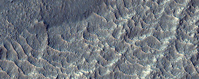 Small Ridges in Rabe Crater