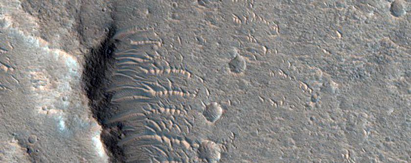 Potential Lava Flow in Xanthe Terra