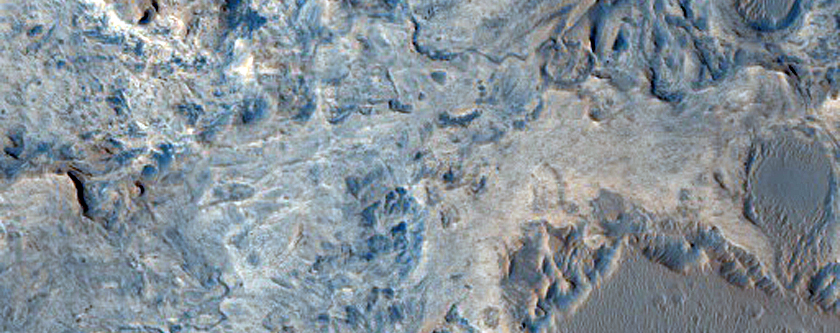 Mottled Deposit in Crater in Arabia Region