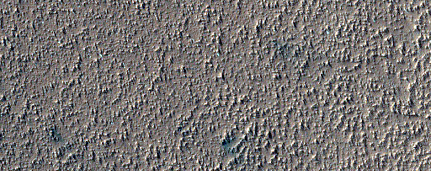 Layers in Southern Latitude Crater