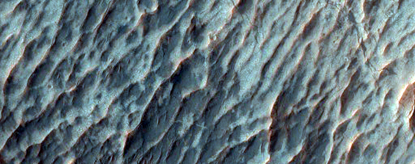 Relatively Dust Free Lavas from Arsia Mons
