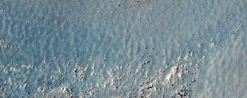 Terrain Sample on Rim of Lowell Crater