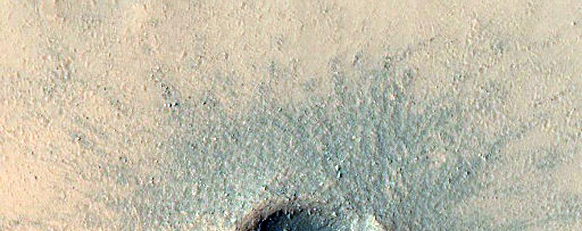 Fresh Small Crater in Daedalia Planum