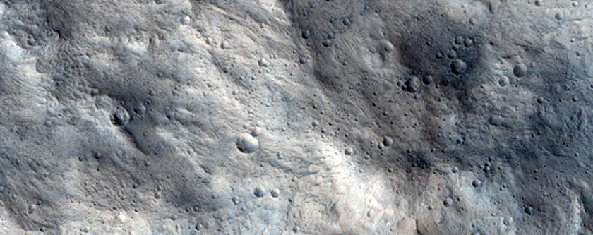 Candidate ExoMars Landing Site Near Sabrina Vallis