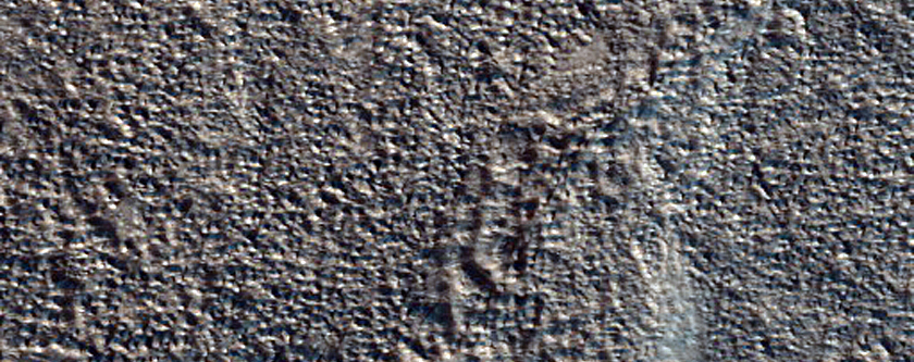 Valleys and Fractures on Northern Flank of Alba Patera