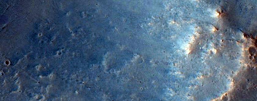Crater in Daedalia Planum