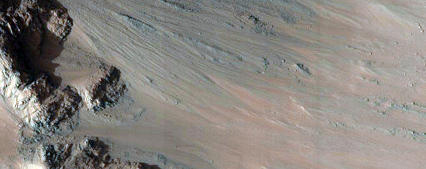 Steep Rocky Slopes in East Coprates Chasma