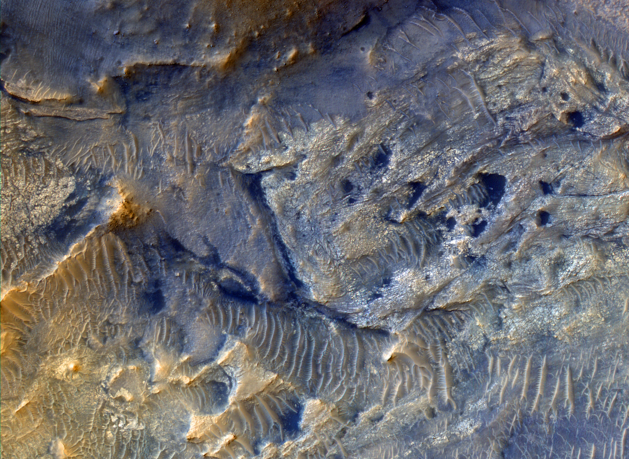 Univ Of Arizona >> Space Images | An East Watershed for Jezero Crater