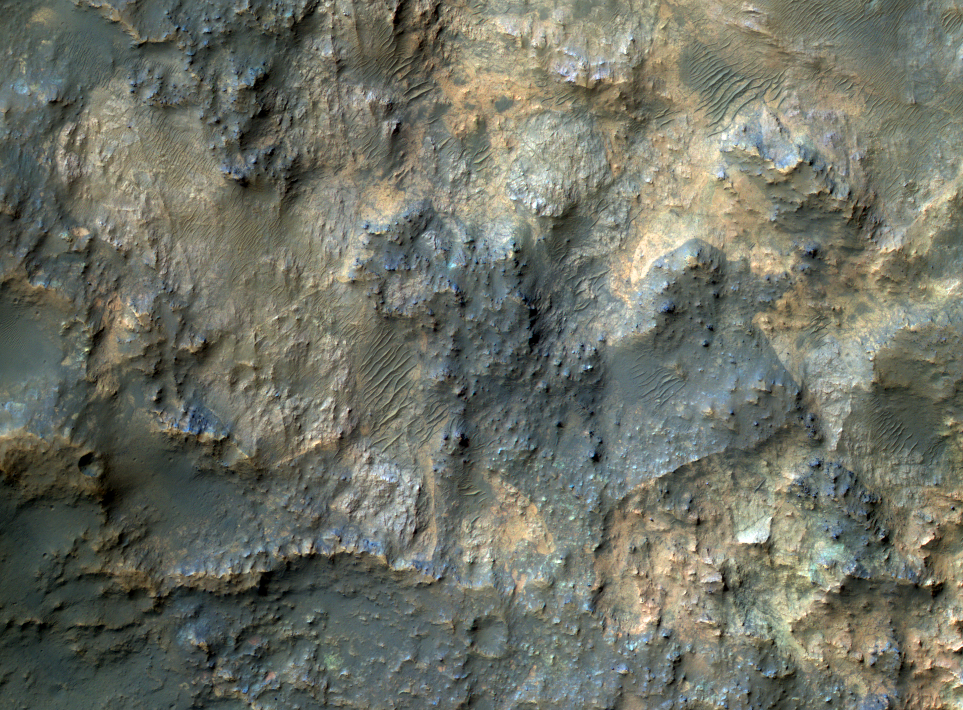 Space Images | Bedrock North of Terby Crater