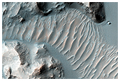Erosion and Deposition in Schaeberle Crater