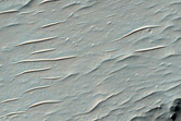 Lobate Feature in Crater