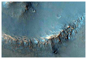 Possible Phyllosilicate Detection in a Small Crater Near Gale Crater Rim