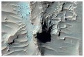 Rocky Impact Ejecta on Crater Floor