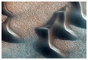 North Polar Barchan Dunes