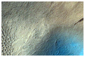 Crater in Orcus Patera