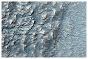 Landforms North of Warrego Valles