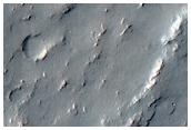Narrow Ridges West of Lambert Crater