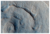 Pedestal Crater with Radial Patterns