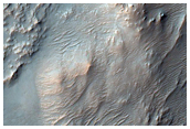 Ridges on Mound South of Huygens Crater