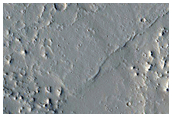 Lava Flow and Channels Near Olympica Fossae