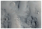 Ejecta from Crater Near Phlegra Montes