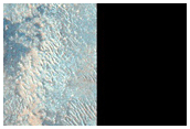 Intracrater Dune Change East of Proctor Crater