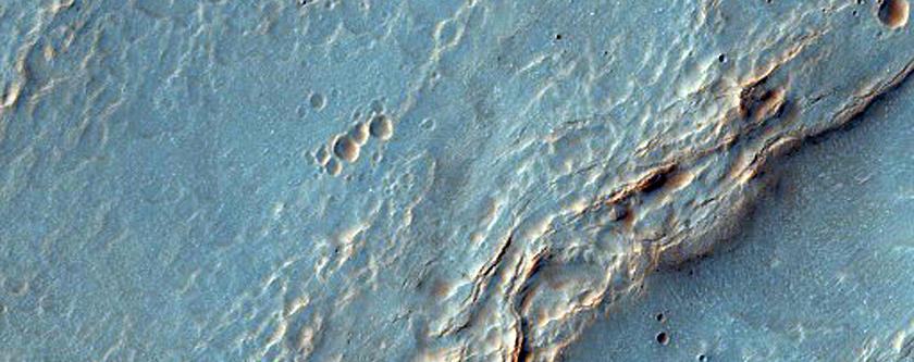 Hollowed Out Surface Near Argyre Region