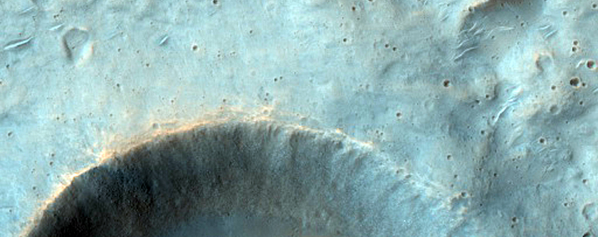 Eastern Crater Rays of Well-Preserved Crater in Hesperia Planum