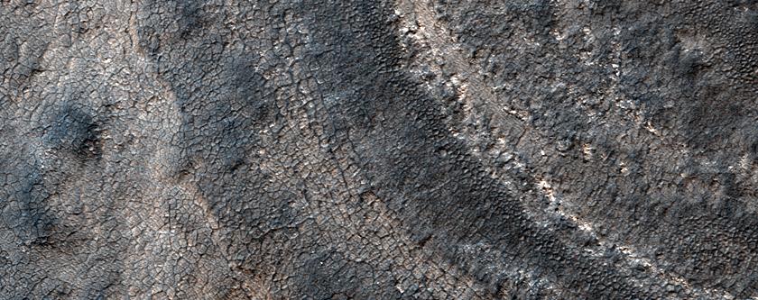 2-Kilometer Crater on South Polar Layered Deposits