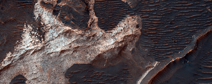 Monitoring for Material Movement in Eberswalde Crater
