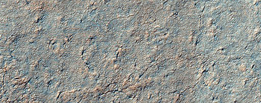 Small Crater on South Polar Layered Deposits
