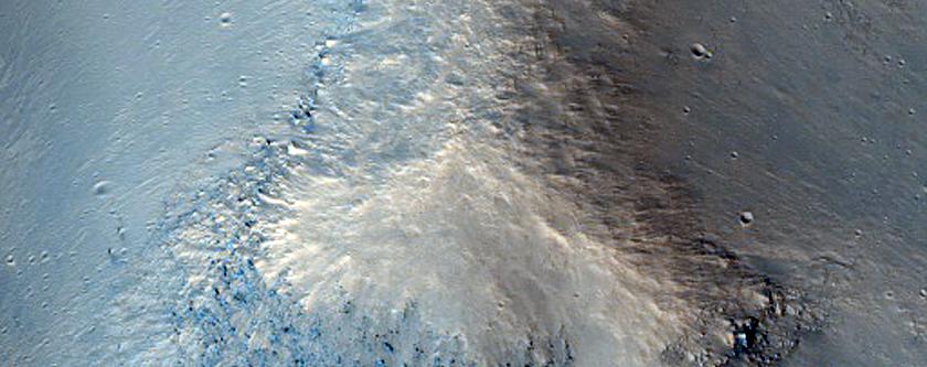 Channels in Chaotic Terrain Near Head of Ravi Vallis