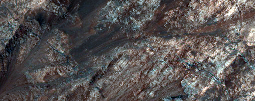Monitor Slopes on North Wall of Coprates Chasma