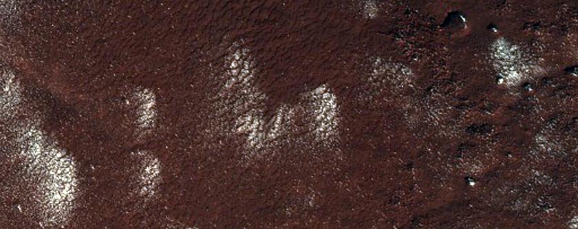 1390-Meter Diameter Crater on South Polar Layered Deposits