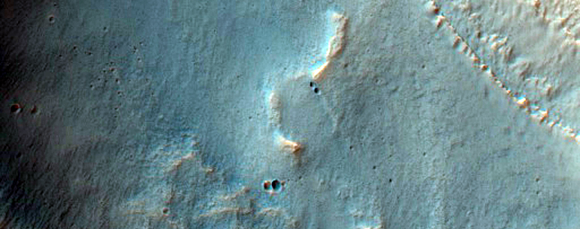 Discontinuous Sinuous Ridge within Valley