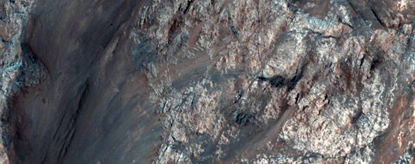 Monitor Slopes on North Wall of Coprates Chasma