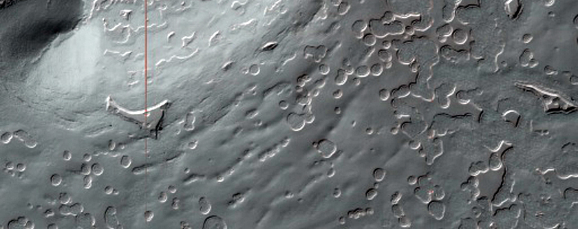 832-Meter Diameter Crater on South Polar Layered Deposits