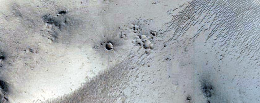 Crater Slope Lineae in Western Arabia Terra