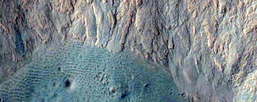 Galap Crater Gullies