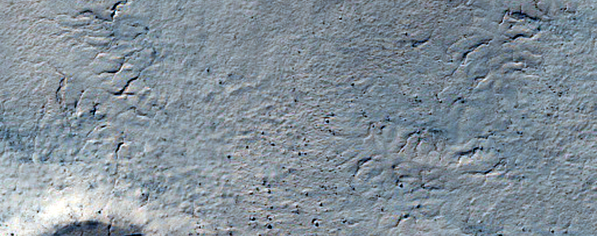410-Meter Crater on South Polar Layered Deposits